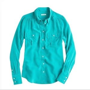 J.Crew Teal / Turquoise Blythe Blouse